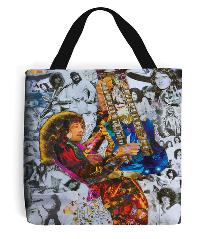 Jimmy Page Collage Tote Bag - multymedia