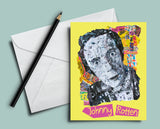 Johnny Rotten Collage Greeting Card
