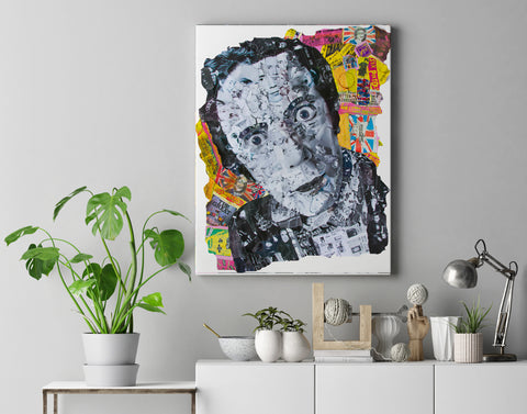 Johnny Rotten Sex Pistols Collage Canvas Print