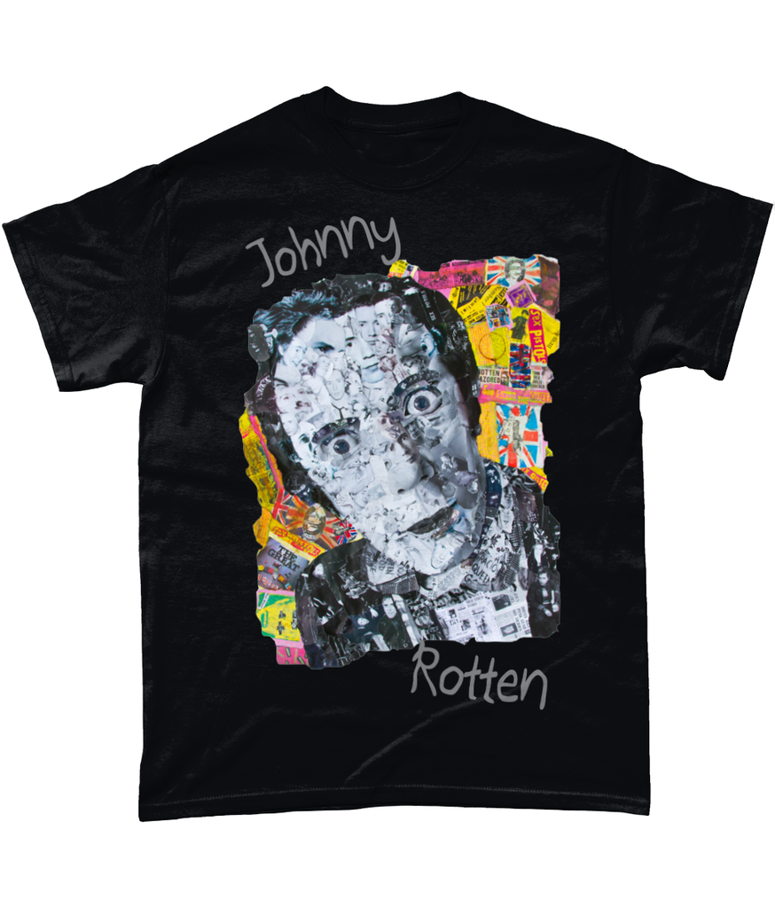Johnny Rotten Sex Pistols Collage Short-Sleeve T-Shirt