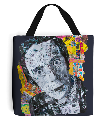 Johnny Rotten Sex Pistols Collage Tote Bag