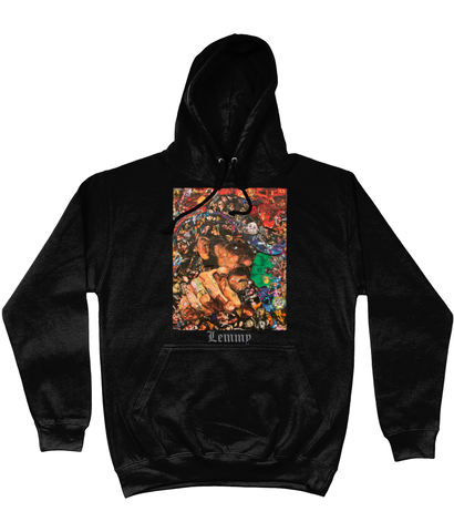 Lemmy Motorhead Collage Hoodie - multymedia