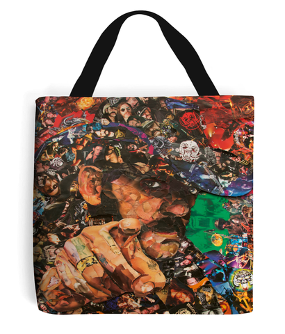 Lemmy of Motorhead Collage Tote Bag - multymedia