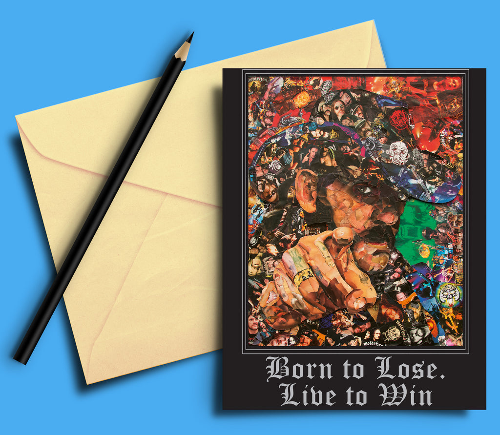 Lemmy of Motorhead  Born to Lose. Live to Win Greeting card - multymedia