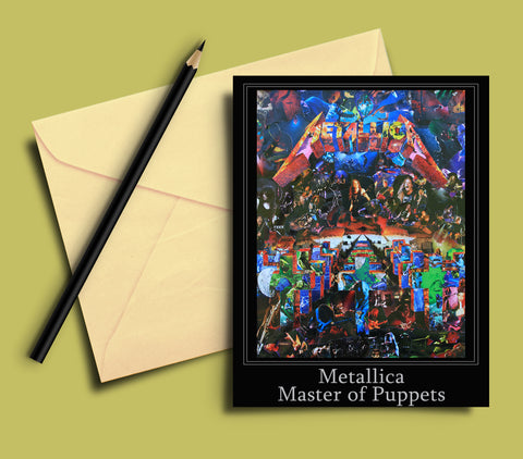 Metallica Master of Puppets Greeting card - multymedia