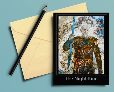 Game of Thrones Night King Collage Greeting Card - multymedia