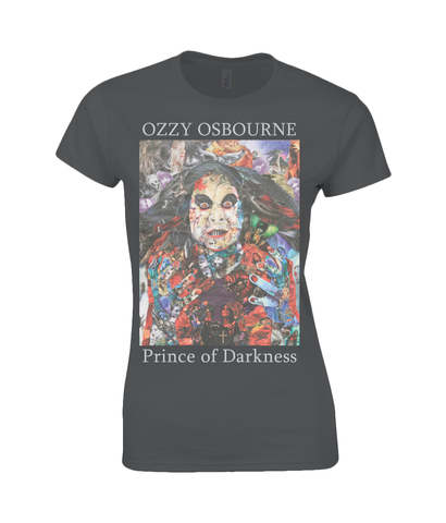 Ozzy Ozbourne Collage Womens T Shirt