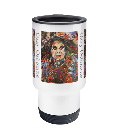 Ozzy Osbourne Black Sabbath Collage Travel Mug 14oz - multymedia