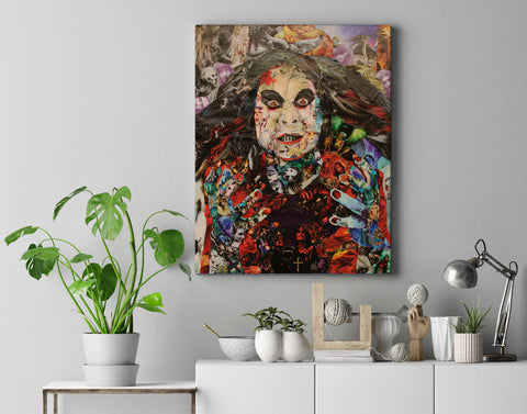 Ozzy Prince of Darkness Canvas Print - multymedia