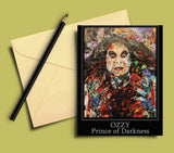 Ozzy Osbourne Collage Greeting Card