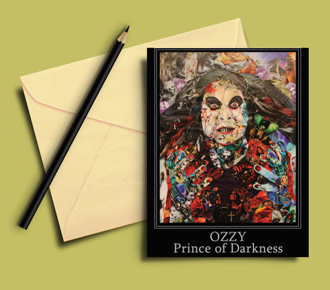 Ozzy Prince of Darkness Greeting card - multymedia