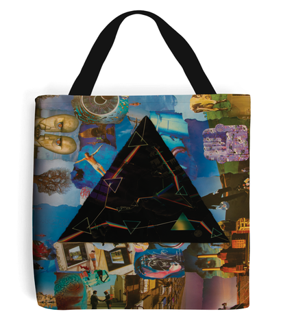 Pink Floyd Darkside Collage Tote Bag - multymedia