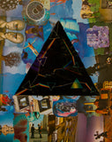 Pink Floyd Darkside Collage Greeting Card - multymedia