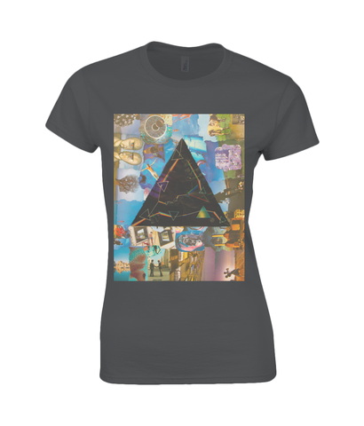 Pink Floyd Darkside Collage Womens T Shirt