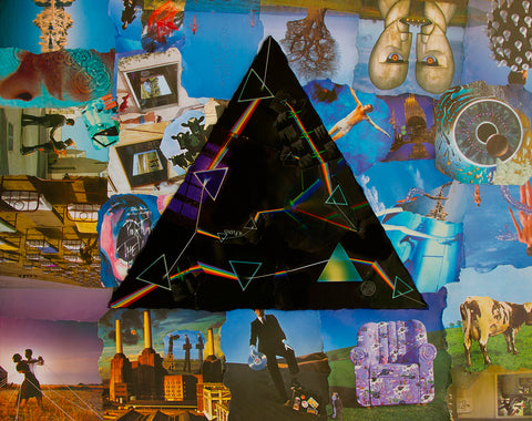 Pink Floyd Darkside Collage Poster 2 - multymedia