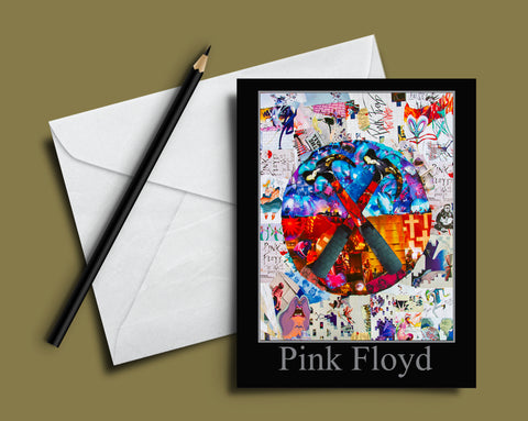 Pink Floyd The Wall Collage Greeting Card