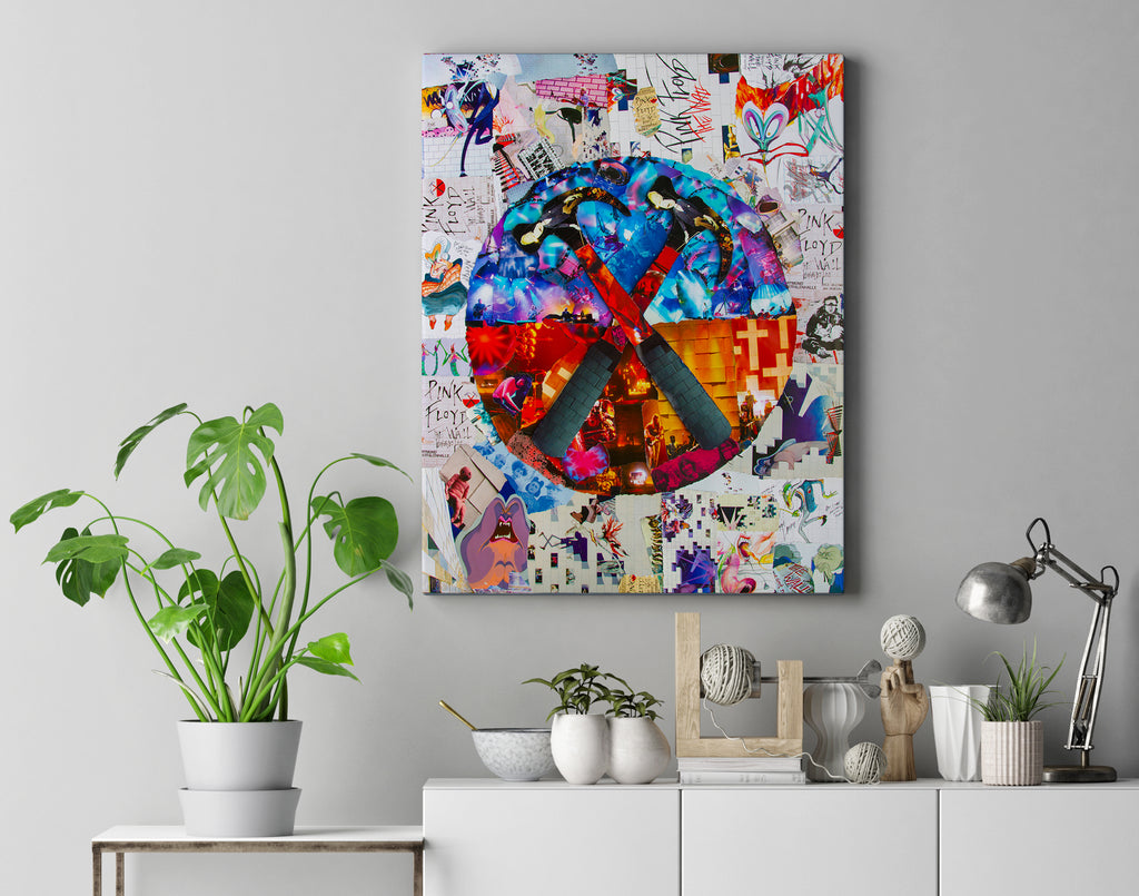 Pink Floyd The Wall Collage Canvas Print - multymedia