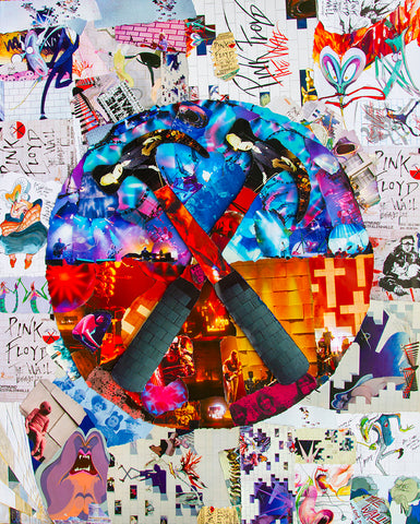 Pink Floyd The Wall Collage Canvas Print