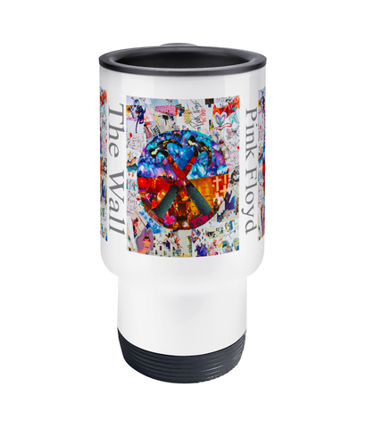 Pink Floyd The Wall Collage Travel Mug 14oz - multymedia