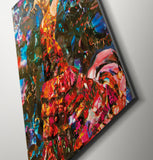 Pink Floyd Flamenco Dancer Canvas Print - multymedia
