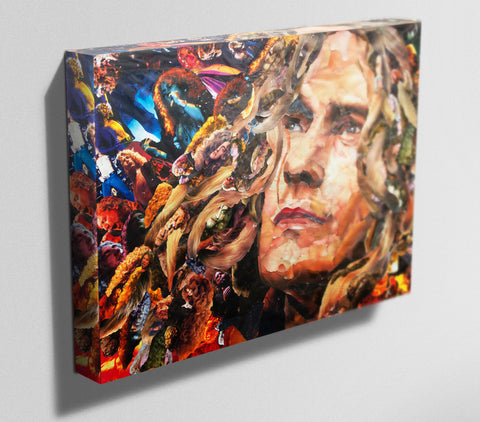 Robert Plant of Led Zeppelin Canvas Print - multymedia