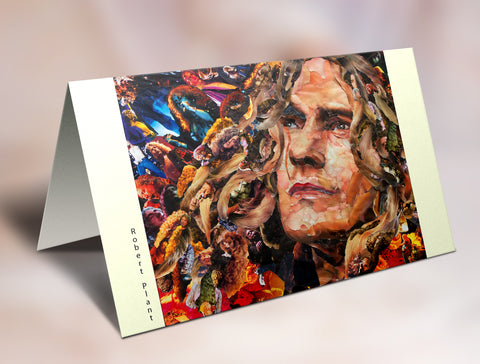 Robert Plant of Led Zeppelin Greeting Card - multymedia