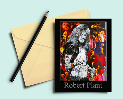 Robert Plant Collage Greeting Card