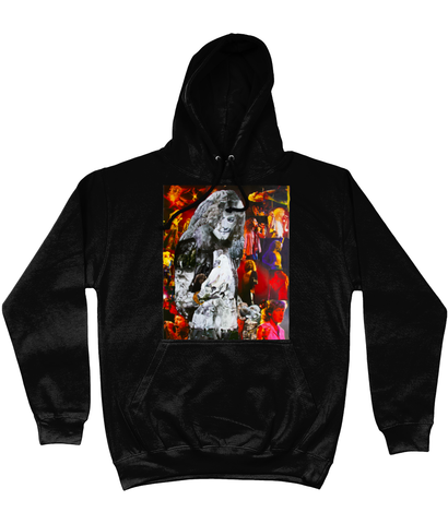 Robert Plant Collage Hoodie - multymedia