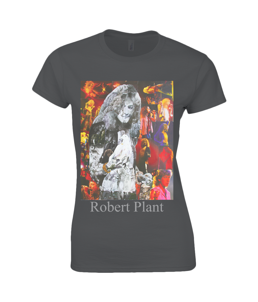 Robert Plant Collage Womens T Shirt