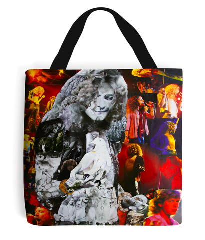 Robert Plant Led Zeppelin Collage Tote Bag - multymedia