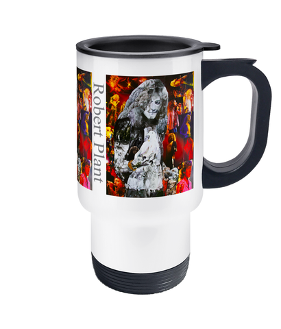 Robert Plant Dove Collage Travel Mug 14oz - multymedia