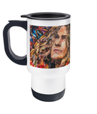 Robert Plant Led Zeppelin Collage Travel Mug 14oz - multymedia