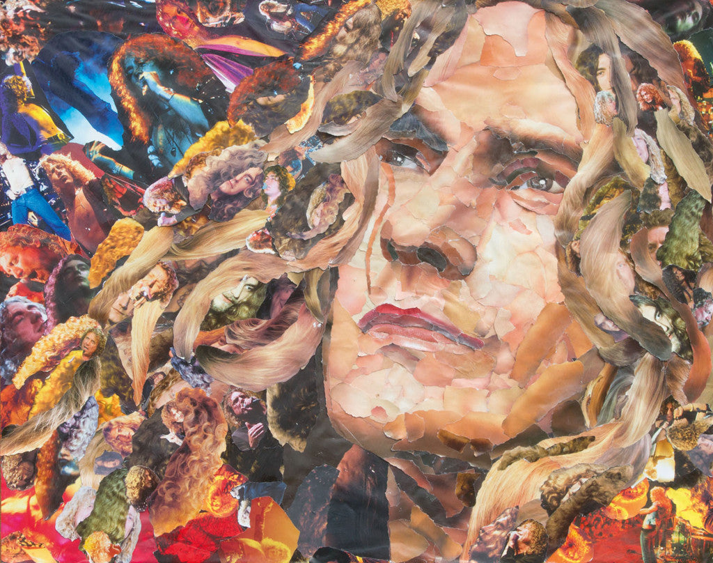 Robert Plant of Led Zeppelin Collage - multymedia