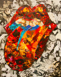 Rolling Stones Collage Poster - multymedia
