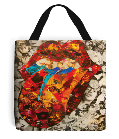 Rolling Stones Collage Tote Bag - multymedia