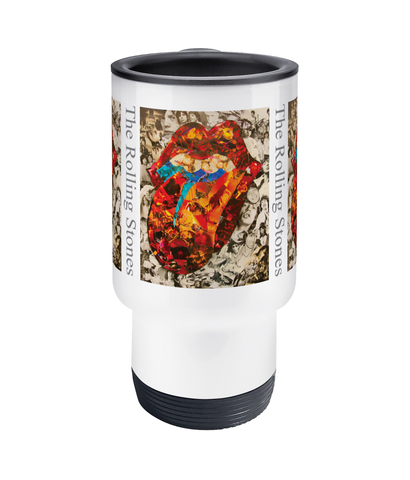 Rolling Stones Collage Travel Mug 14oz - multymedia