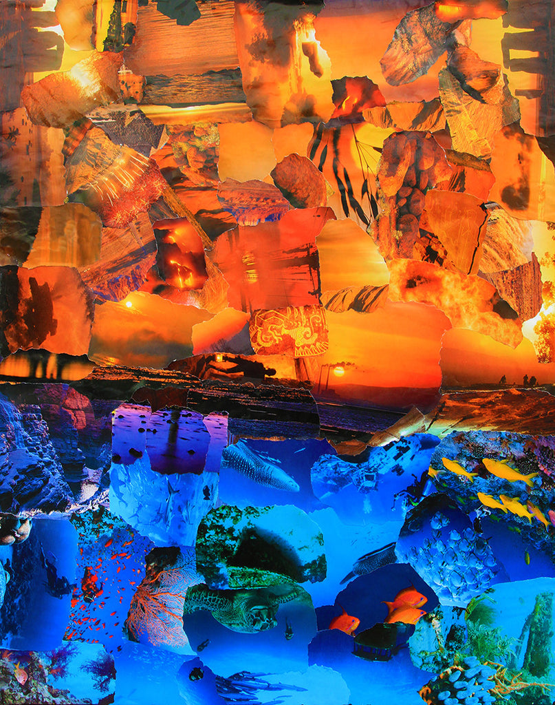 Sunset Ocean Collage - multymedia