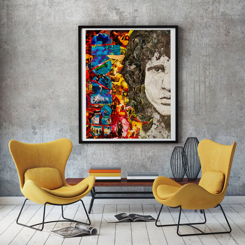 Jim Morrison Collage /  Art - multymedia