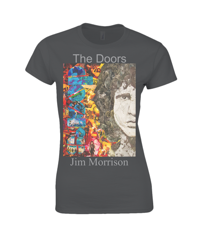 Jim Morrison Collage Womens T Shirt