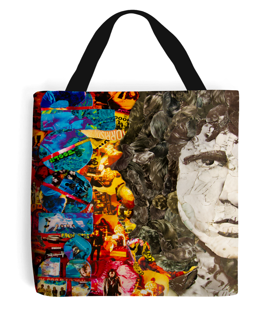 Jim Morrison Collage Tote Bag - multymedia