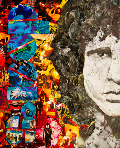 Jim Morrison Collage Poster - multymedia