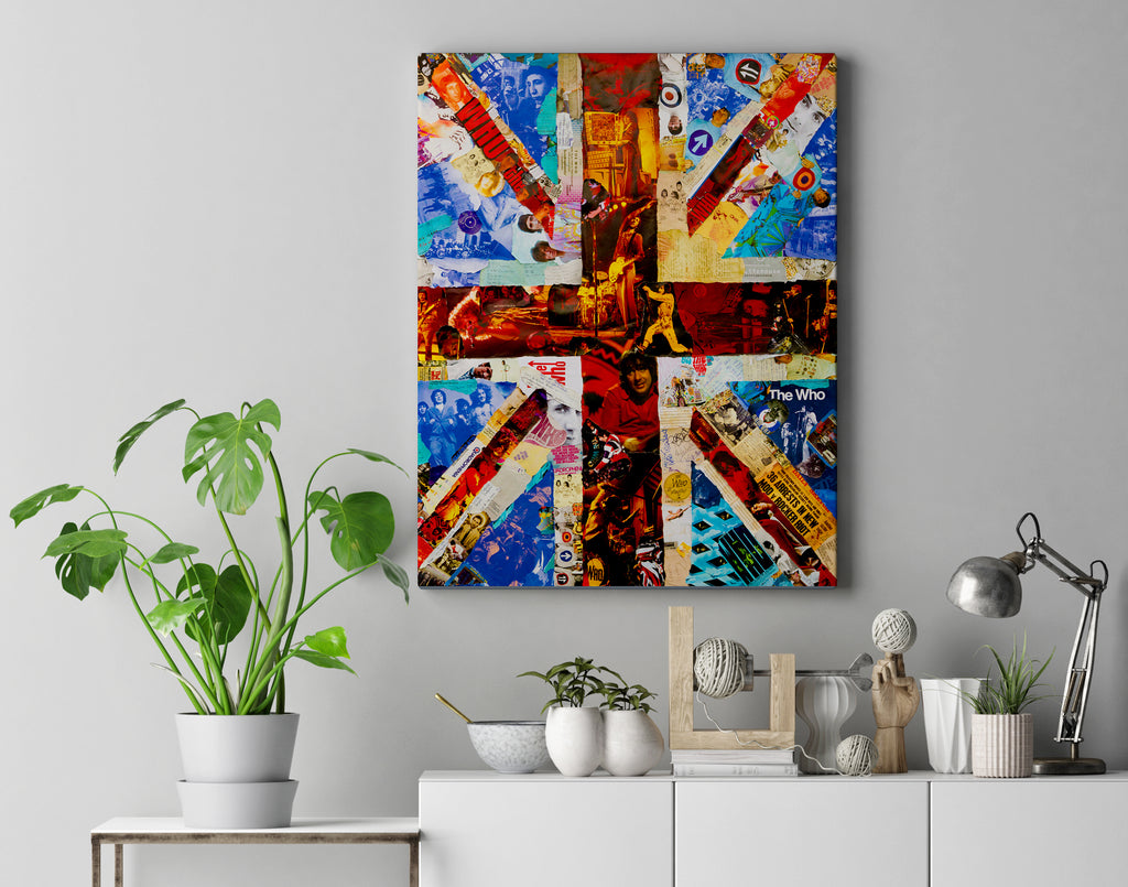 The Who Union Jack Canvas Print - multymedia