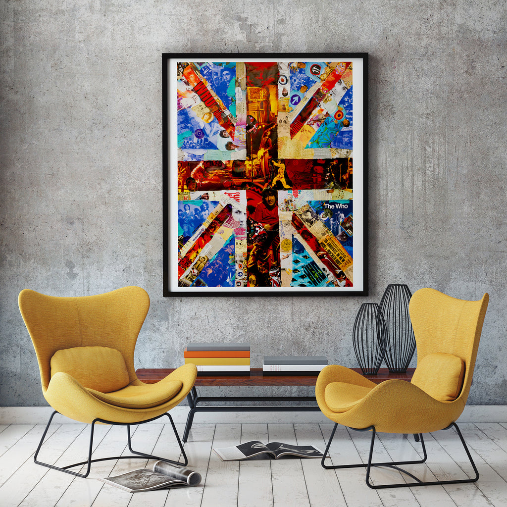The Who Union Jack Collage Poster - multymedia