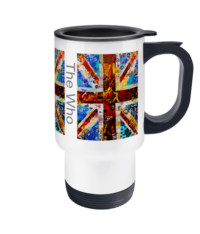 The Who Collage Travel Mug 14oz - multymedia