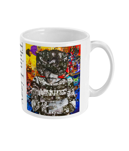 Thin Lizzy Phil Lynott Collage Mug - multymedia