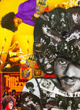 Phil Lynott Thin Lizzy Collage Greeting Card