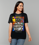 Thin Lizzy Phil Lynott Collage Short-Sleeve T-Shirt - multymedia