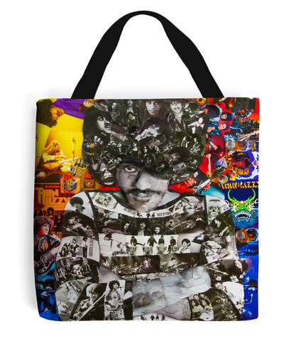 Thin Lizzy Collage Tote Bag - multymedia