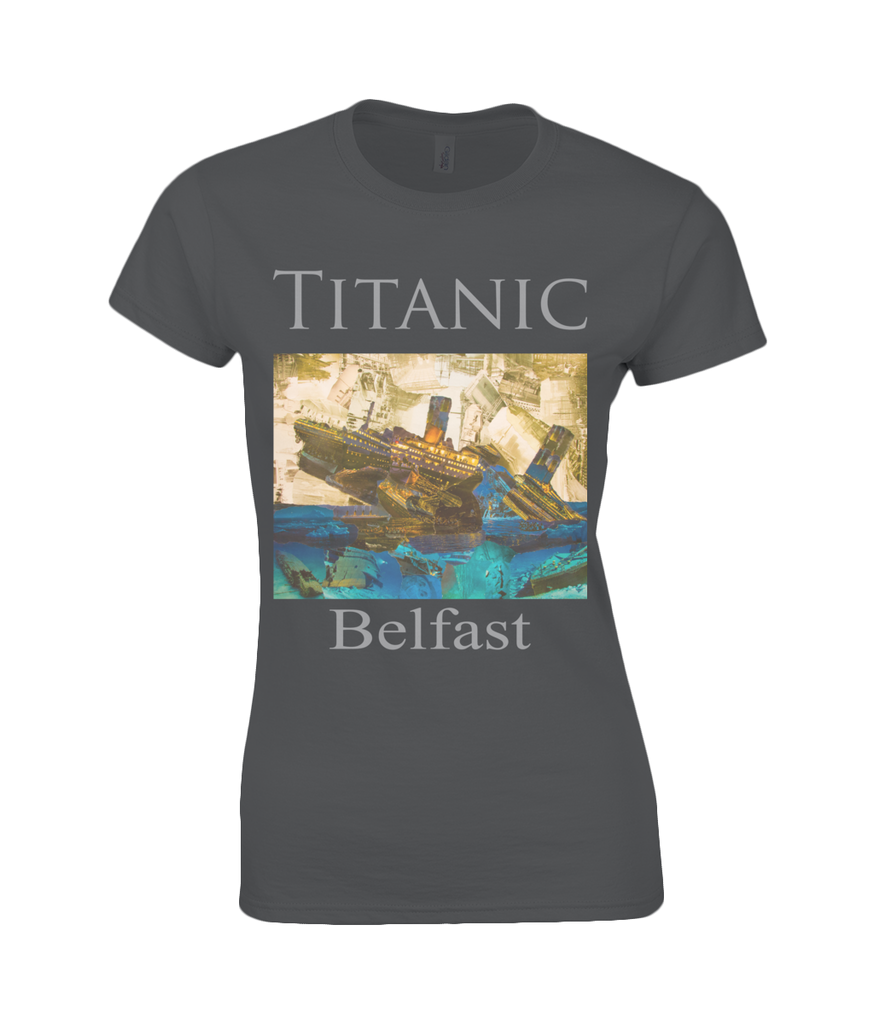 Titanic Collage Womens T Shirt