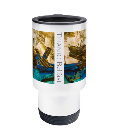 Titanic Collage Travel Mug 14oz - multymedia